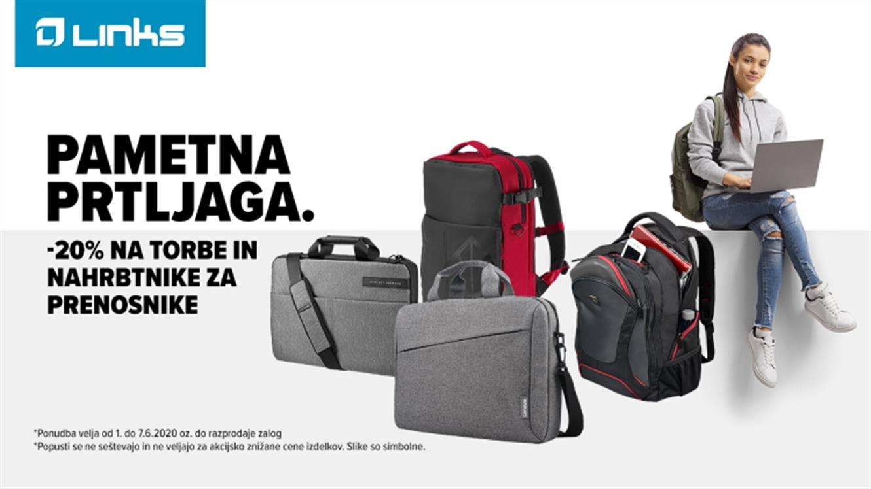 Links: -20 % na torbe in nahrbtnike za prenosnike
