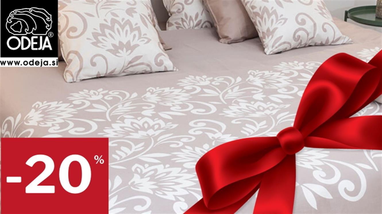 Veseli december prinaša 20 % popusta na vse izdelke Odeja