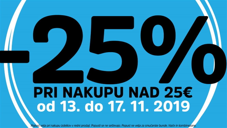 MANA: - 25 % pri nakupu nad 25 €