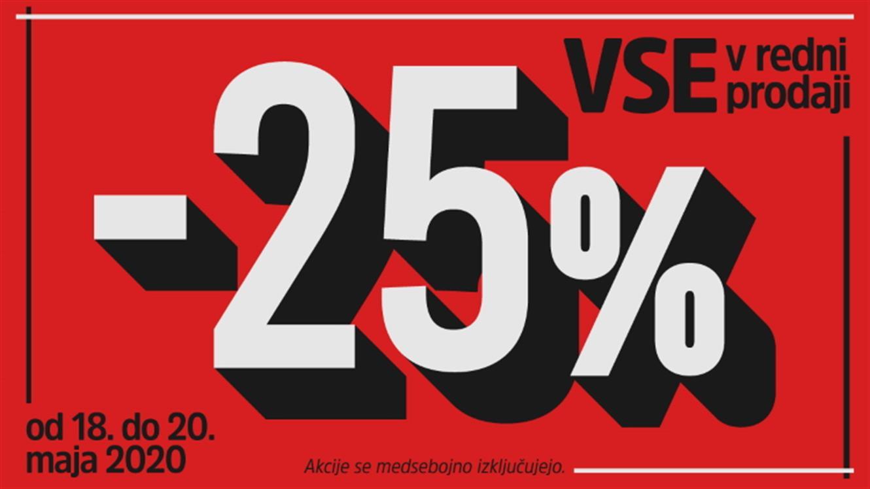 MANA: 25 % popusta na vse v redni prodaji