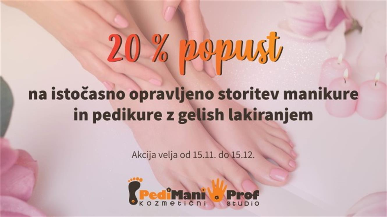 PediManiProf: 20 % popusta