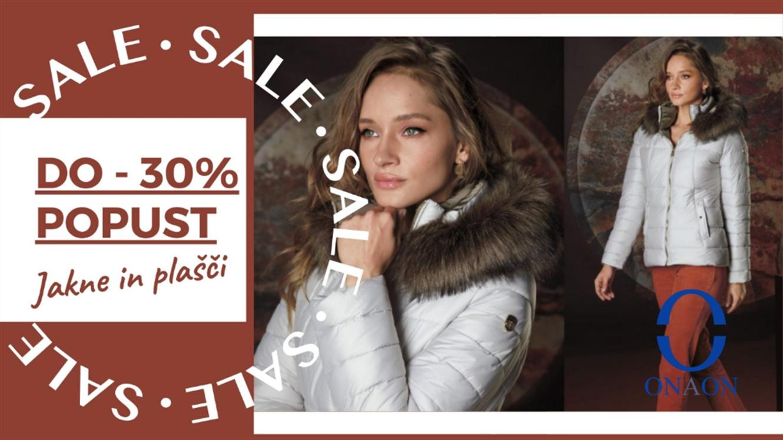 ONAON: do 30 % popusta na zimske jakne in plašče
