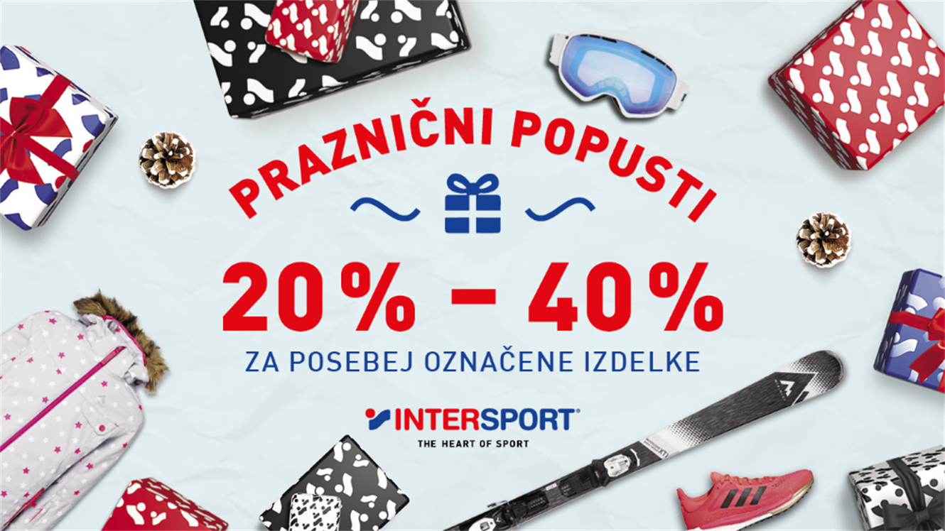 Intersport: praznični popusti
