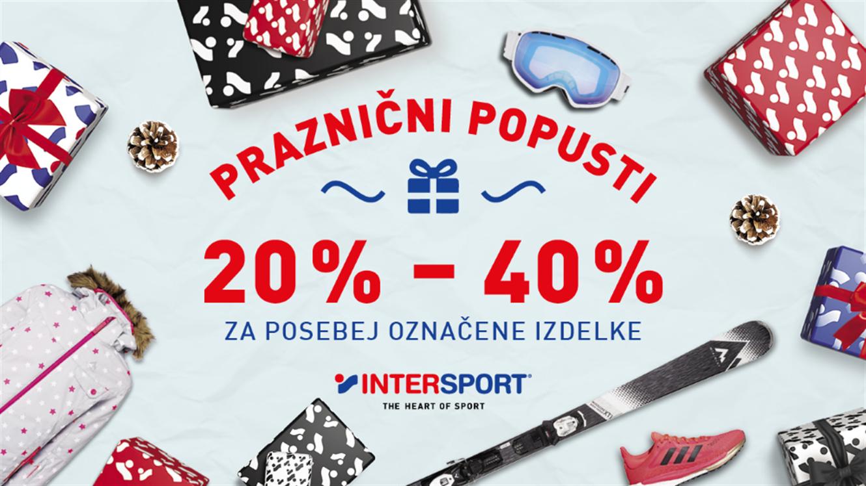 Intersport: praznični popusti