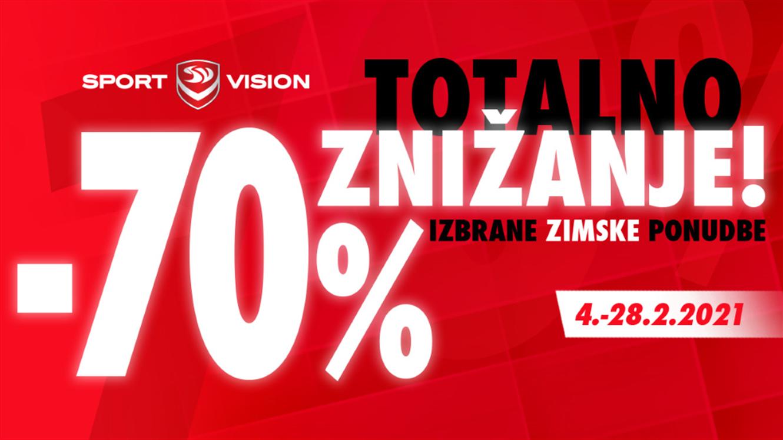 Sport Vision: Totalno znižanje: do - 70 %