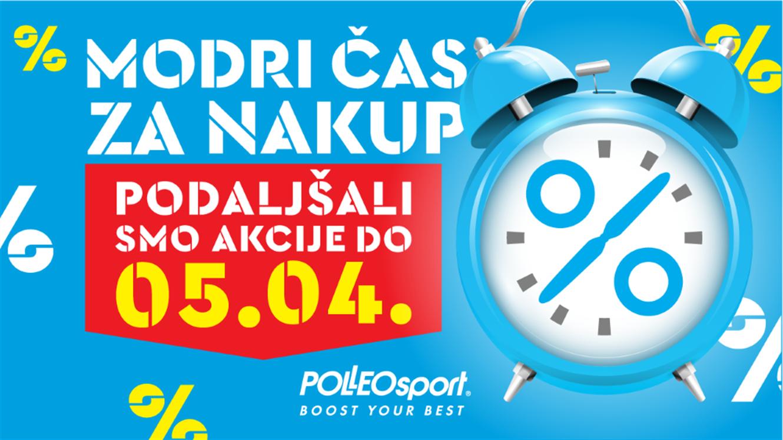 Polleo Sport: Podaljšanje akcij - Modri čas za nakup