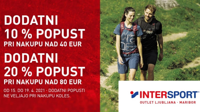 Intersport Outlet: dodatnih 20 % popusta