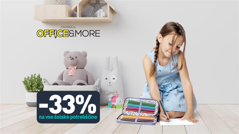 Office&More: Vse za šolo - 33 %
