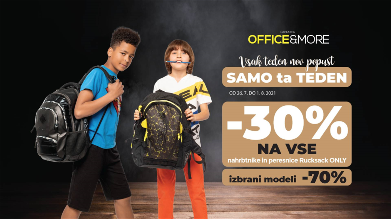 Office&More: – 30 % na Rucksack Only