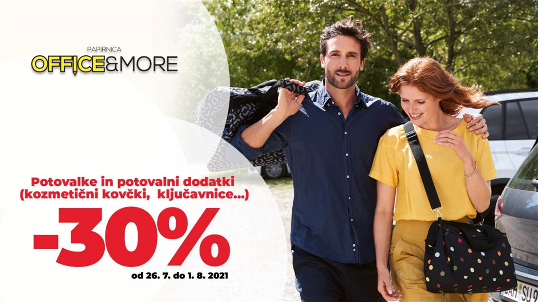 Office&More: – 30 % na vse potovalne torbe in dodatke