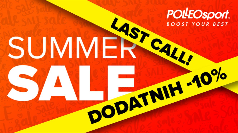 Polleo Sport: Poletna razprodaja - last call!