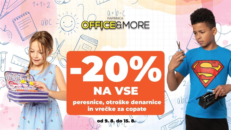 Office&More: Peresnice, vrečke za copate in otroške denarnice ta teden - 20 %