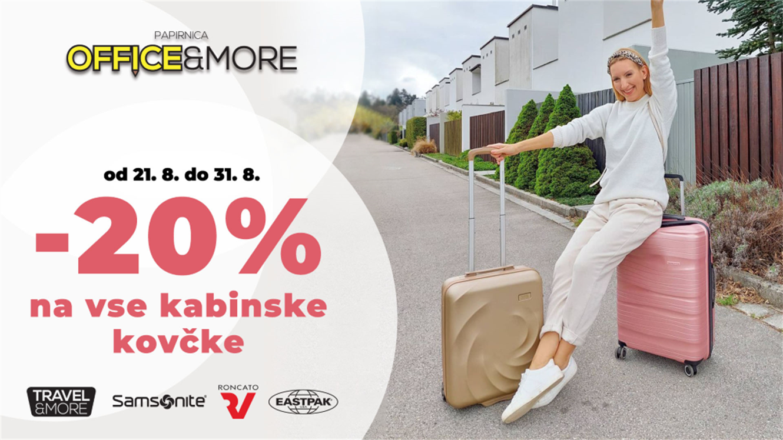 Office&More: – 20 % na kabinske kovčke