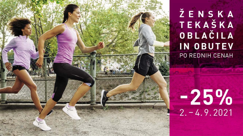 Intersport: – 25 % na ženska tekaška oblačila in obutev