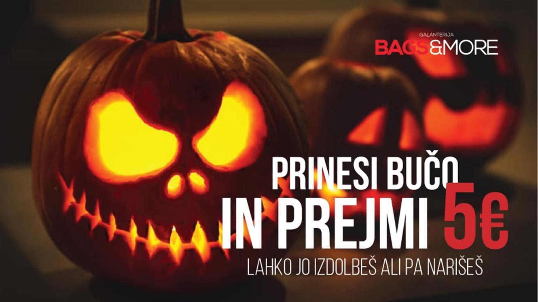 Bags&More: Prinesite bučo in prejmite 5 € ali 30 % popusta