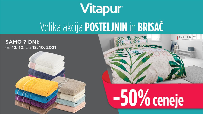 Vitapur: Velika akcija posteljnin in brisač SVILANIT – 50 % ceneje!