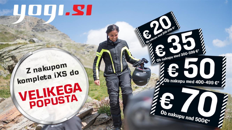 Yogi.si: Komplet motoristične jakne in hlač znižan do 70 €