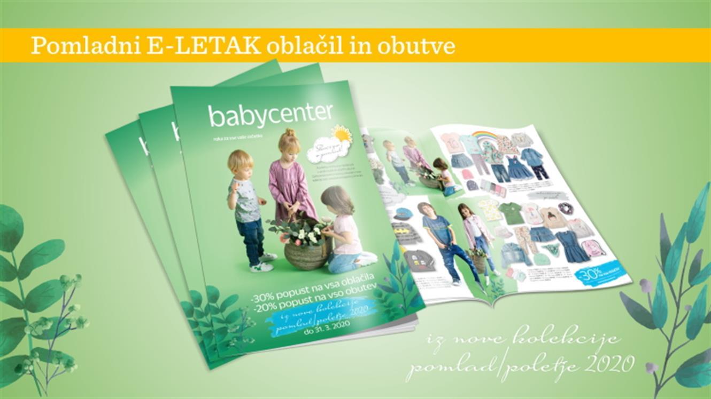 Baby Center pomladna akcija oblačil in obutve