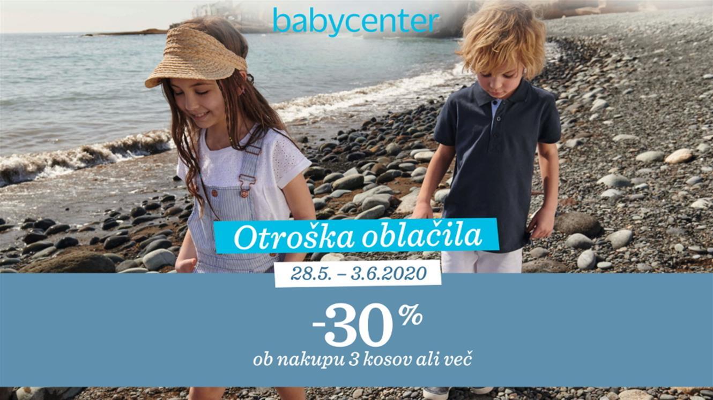 Baby Center: akcija oblačil za vroče poletne dni