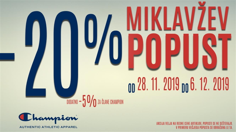 Champion: Miklavžev popust