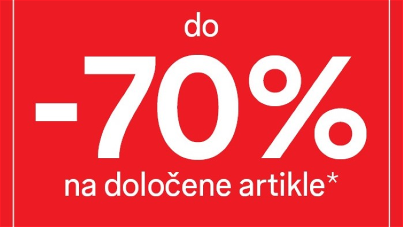 C&A: do - 70 % na označene artikle