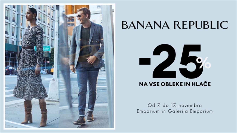 - 25 % na vse obleke in hlače