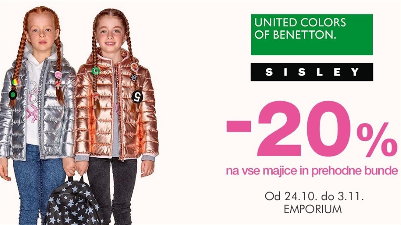 - 20 % na vse majice in prehodne bunde