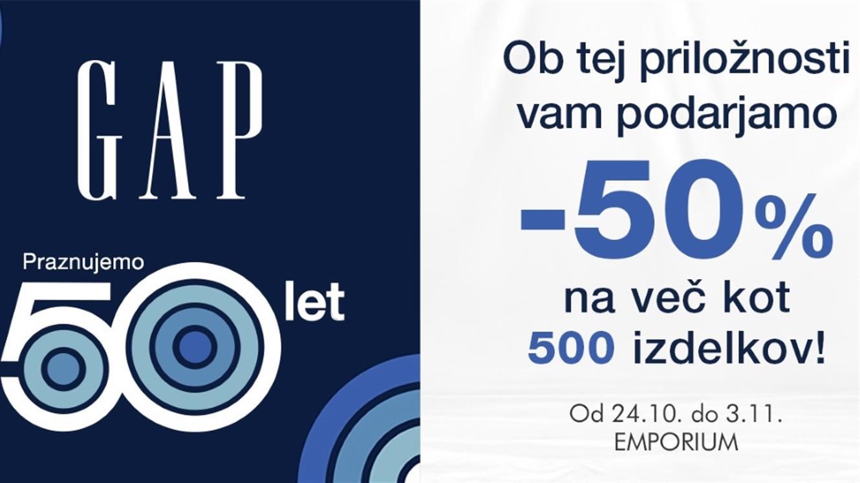 - 50 % na več kot 500 izdelkov