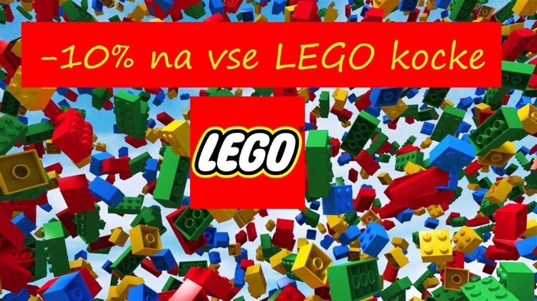 10 % popusta na vse LEGO kocke