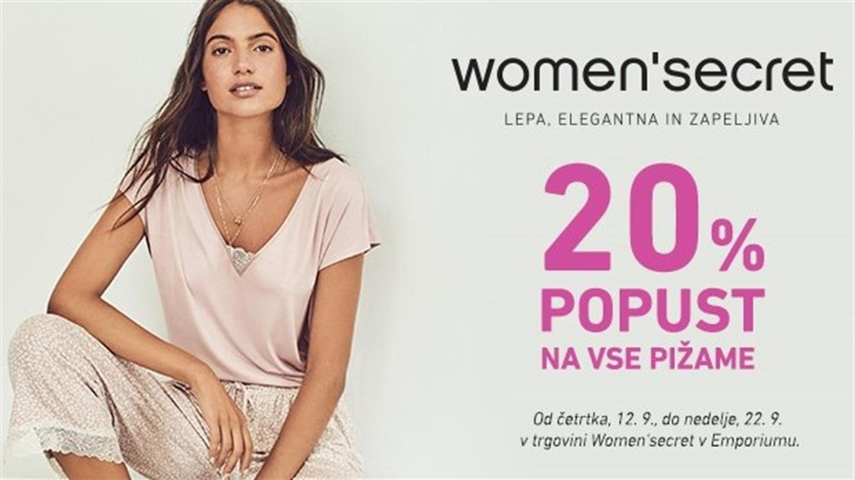20 % popusta na pižame Women'secret