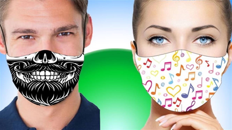 Modna maska ali maska za zabavo za jesen 2020