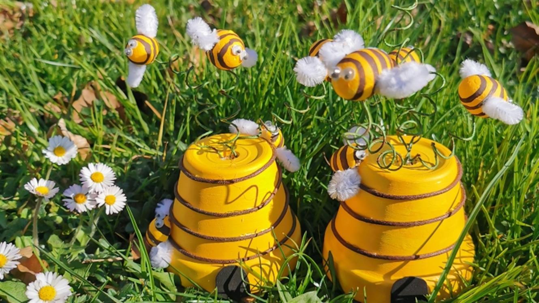 DIY čebelja dekoracija
