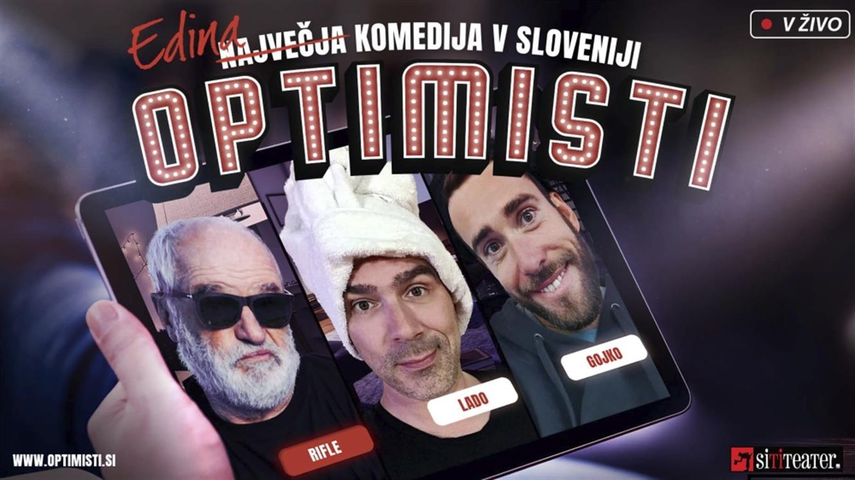 Premiera: Optimisti - spletna komedija v živo