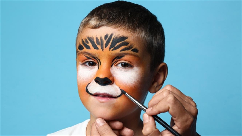 Pustna poslikava obraza: tiger