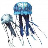 Nobby akvarijski dekor plavajoča meduza plavajoča, modra in bela, 2 kos 12,99 €; Mr. Pet, Dvorana 3