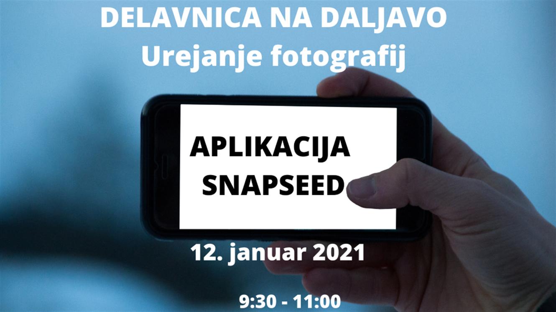 Urejanje slik z aplikacijo Snapseed