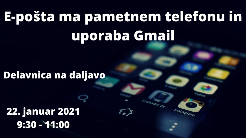 E-pošta na pametnem telefonu in uporaba Gmaila