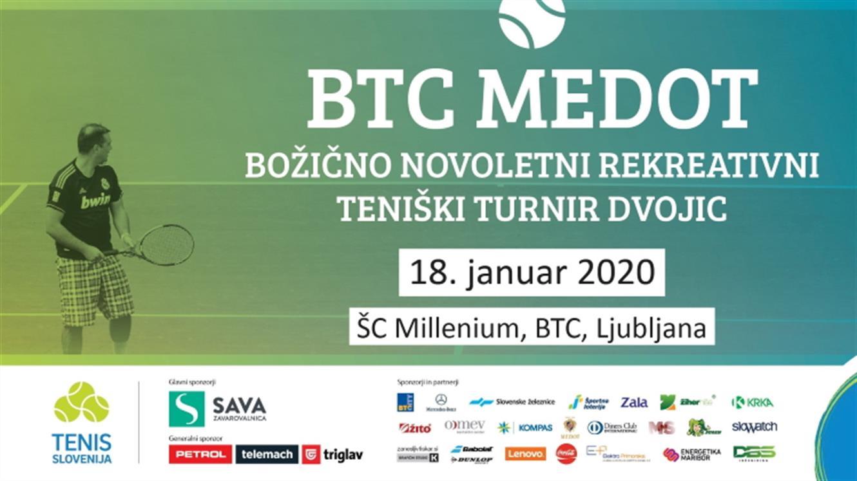 BTC MEDOT božično-novoletni rekreativni teniški turnir dvojic