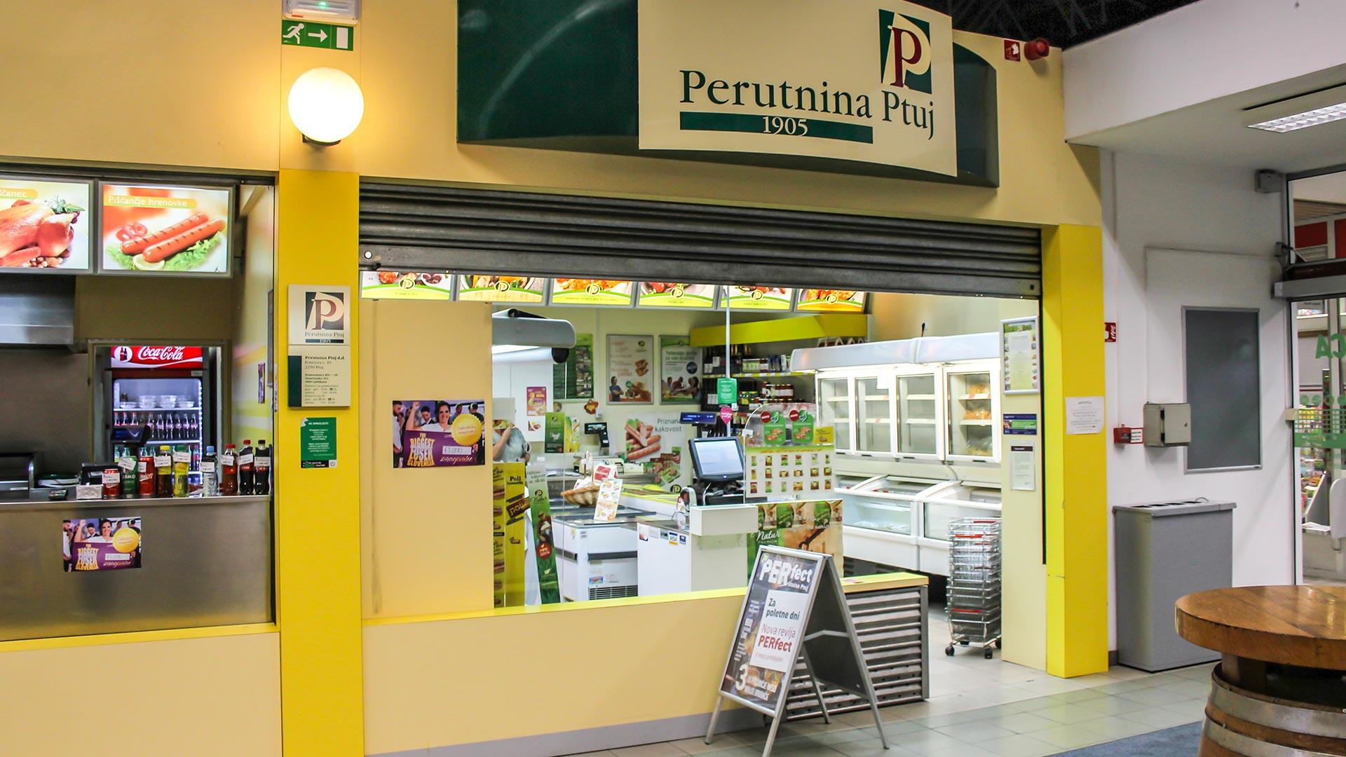 Perutnina Ptuj – Prodajalna BTC in Fast Food BTC