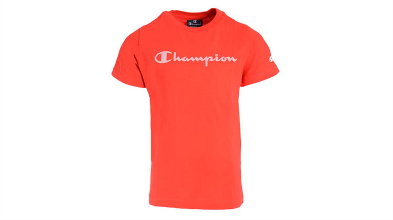 Otroška majica s kratkimi rokavi Champion 305169 - rdeča-132