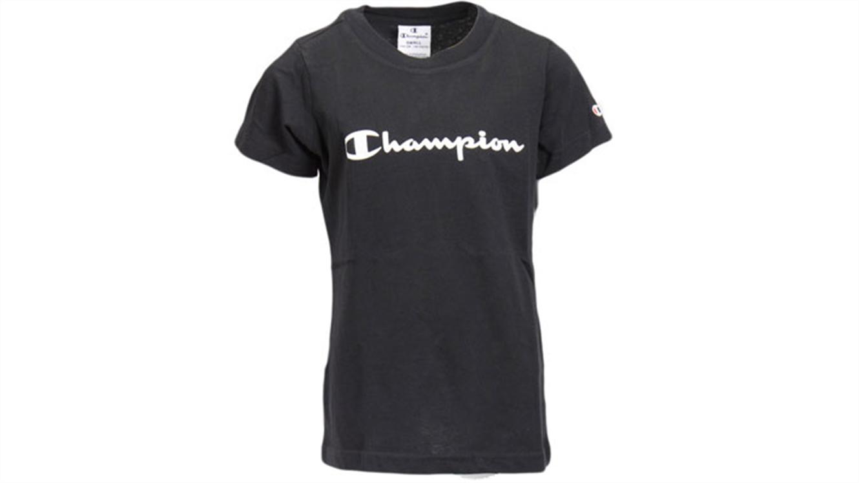 Dekliška športna majica Champion® 403805 kratek rokav črna-147
