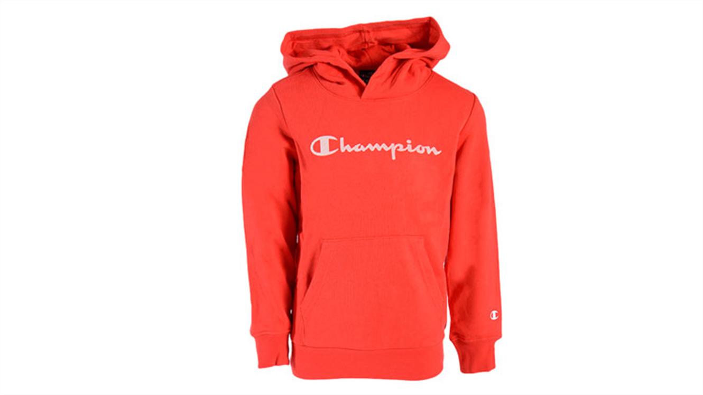 Otroški pulover s kapuco Champion 305163 - rdeč-155