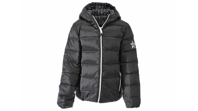 Dekliška jakna Champion® s kapuco 403506 - črn print-168