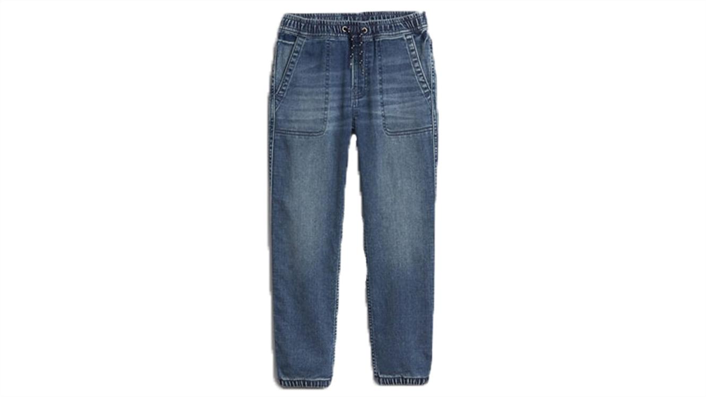 Denim jogger fantovske hlače-287