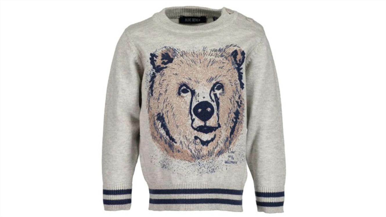 Blue Seven fantovski pulover z motivom medvedka-579